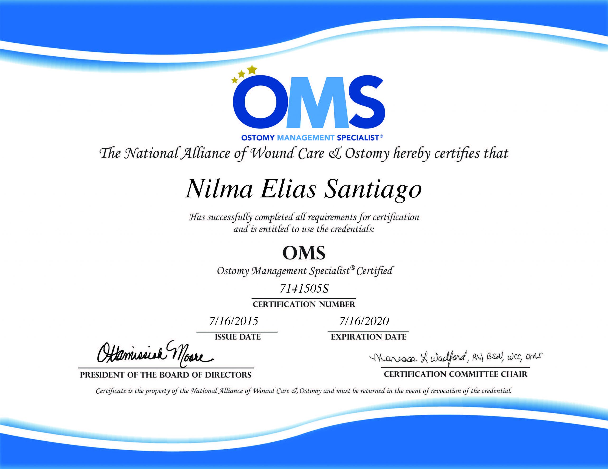 Ostomy Management Specialist – Certificate
